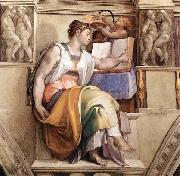 Michelangelo Buonarroti The Erythraean Sibyl oil painting